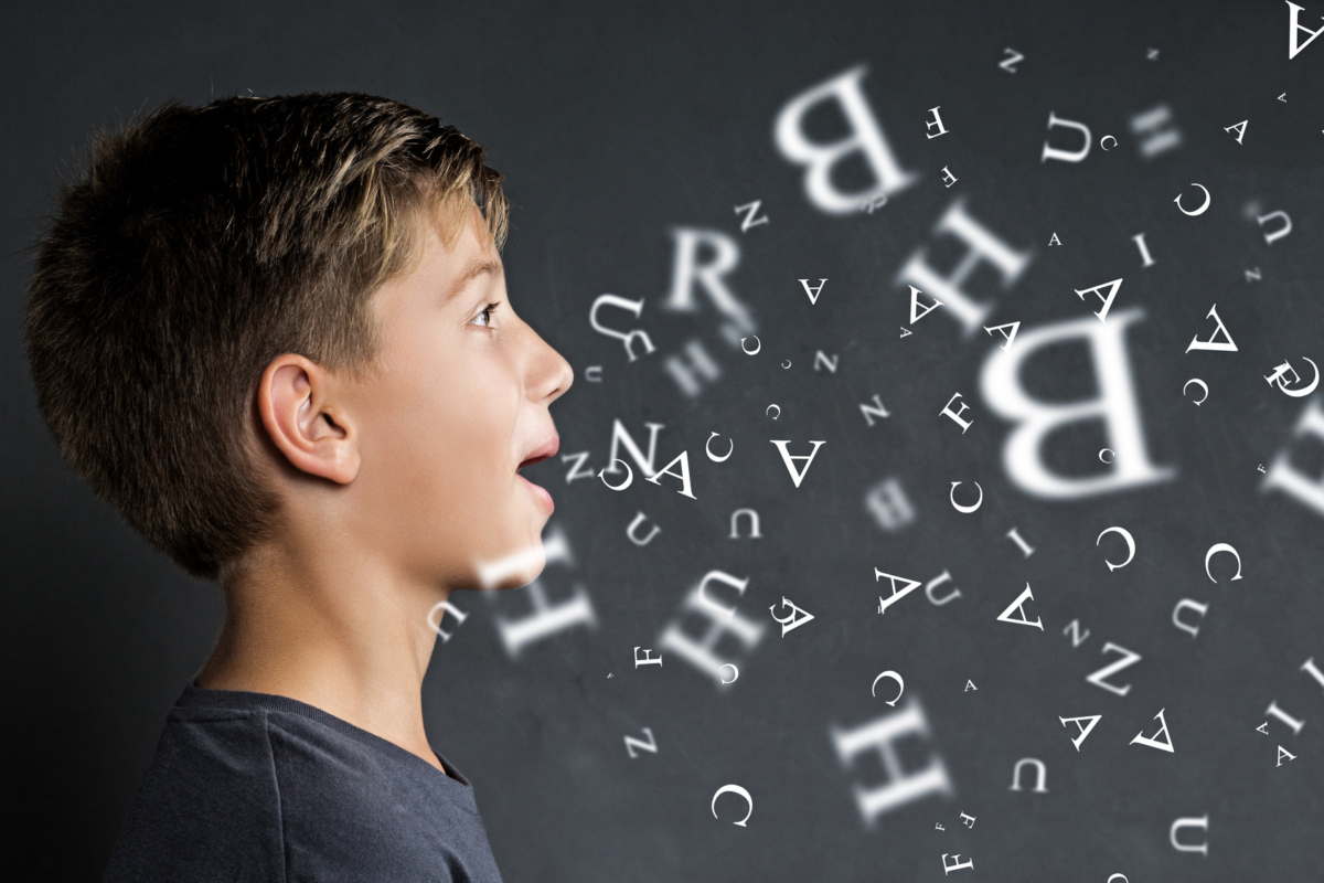 Boy speaking consonants